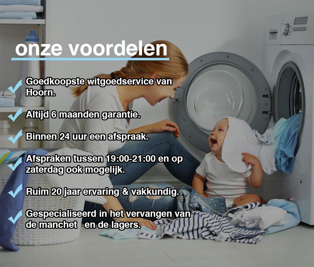 Voordelen van witgoed reparatie service Hoorn